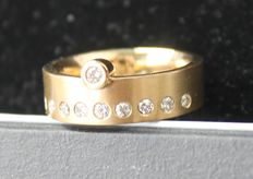 18kt Yellow gold ring - size 54