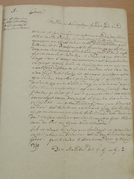 Advice on marriage proclamations may 1749 plus an added for Auction advice