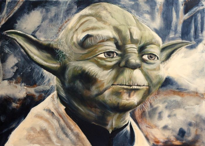 Star wars yoda giclee on cotton 100x70cm artist for Stephan evenblij