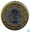 "Comoros 250 francs 2013 ""30th Anniversary of the Central Bank of the Comoros"""