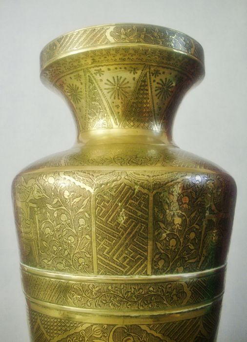 Large Brass Vase Java Indonesia First Half 20th Century Catawiki