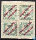 Spanish stamps with overprint