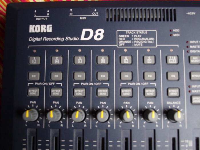 digital 8 track recording studio korg d8 catawiki. Black Bedroom Furniture Sets. Home Design Ideas