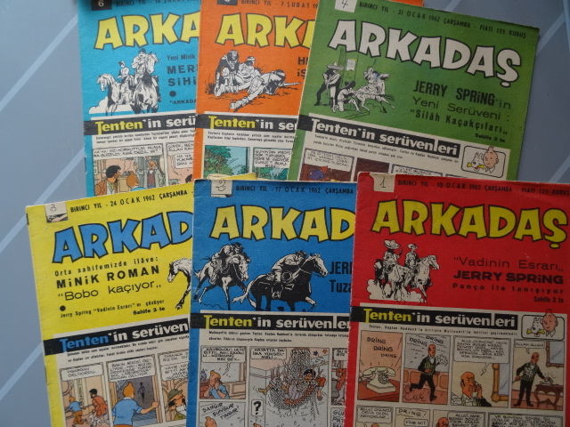 Tenten 18 - Tintin 18 - The Calculus Affair -  Complete in the magazine Arkadaş - Turkish - 21 x sc - (1962)