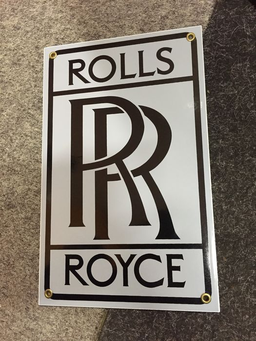 rolls royce logo emaille logo bord catawiki. Black Bedroom Furniture Sets. Home Design Ideas