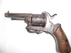 Pin revolver 1878 or younger. 19th century.