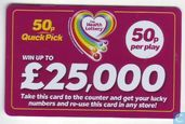 Playcard 50p Quick Pick - The Health Lottery