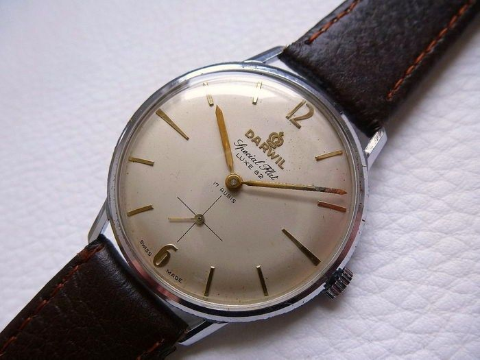 DARWIL Special Flat Luxe 62 - men's watch - 1960s