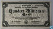 Hamburg 100 Miljoen Mark 1923
