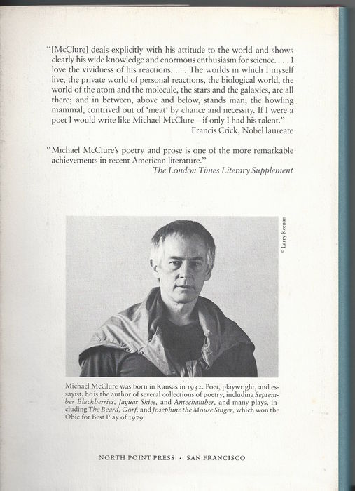 michael mcclure essays Intro to the 2nd edition of michael mcclure's specks, published by talon books, van, bc introduction to along the rim: the best of the pacific rim review of books, vol ii pacific rim poetics (essay from which my presentation at the 3rd qinghai lake international poetry festival, china, august 8, 2011 was based.