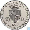 "Andorra 10 diners 1998 (PROOF) ""George Friedrich Handel"""