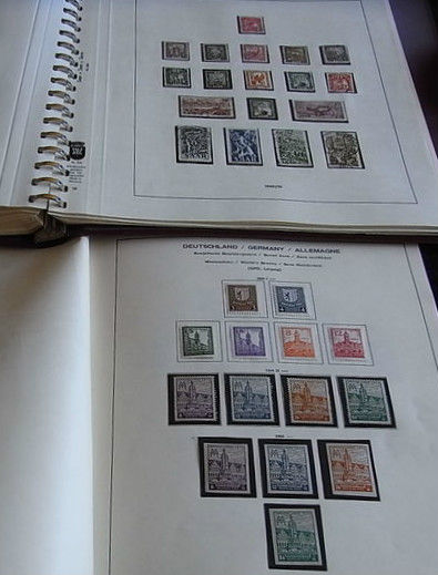 Saarland and Soviet Zone - Collection in a binder with corresponding Falzlos Lindner Album