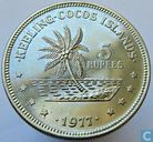 Cocos (Keeling) Islands 5 rupees 1977