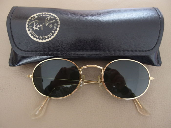 Ray-Ban B&L W0976 Oval Gold - rare sunglasses from the 90's