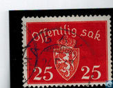 Postage Stamps - Norway - Without watermark 1941 offentlig Sak 25