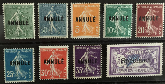 France 19111923 Instruction Course Annul And Specimen Catawiki