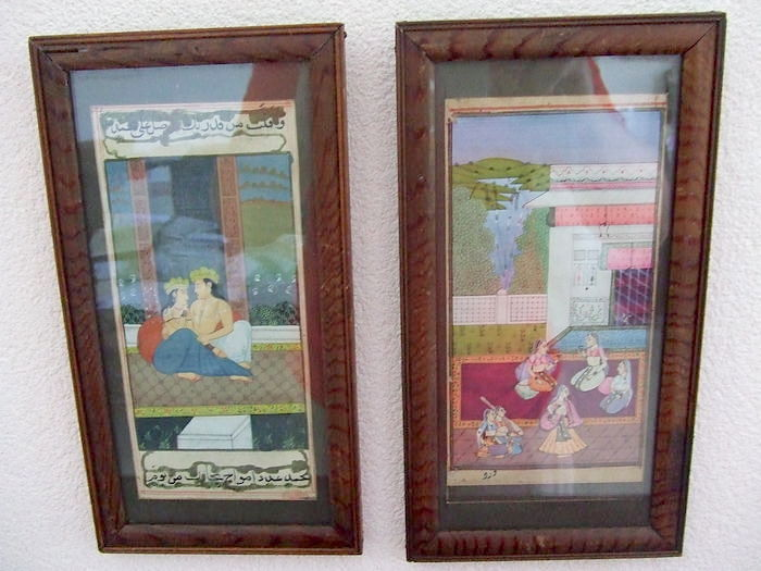 Two Antique Paintings - Gouache - India/Persia - Early 19th Century