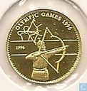 "Mongolië 500 tugrik 1996 (PROOF) ""1996 Summer Olympics - Atlanta - Archery"""