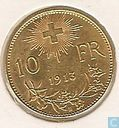 Switzerland 10 francs 1913