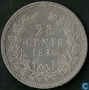 Pays Bas 25 cents 1850/49