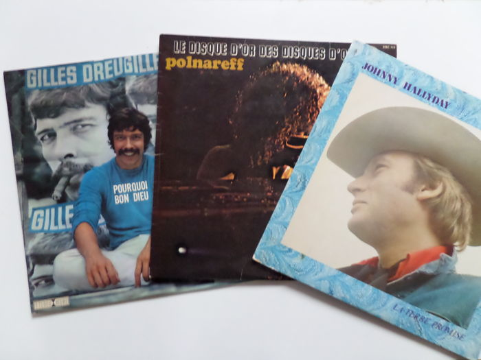 Lof Of Nine 9 Albums From Great French Singers Chansonniers