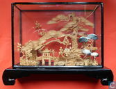 Chinees  landschap in kurk  Diorama