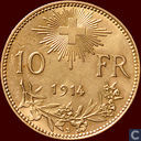 Switzerland 10 francs 1914