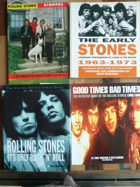 The Rollin Stones - Lot Of 4 great Rolling Stones books (UK) EX