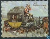 Stagecoach with travellers