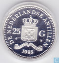 "Netherlands Antilles 25 gulden 1995 (PROOF) ""Olympic Games 1896 - 1996 - Weight lifter"""