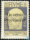 Gabriele d'Annunzio, with overprint