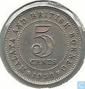 Malaya and British Borneo 5 cents 1958 without H