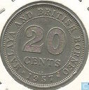 Malaya and British Borneo 20 cents 1957 (KN)