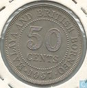 Malaya and British Borneo 50 cent 1957 (H)