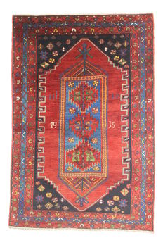 Collectable semi-antique RUSSIAN KAZAK rug, 1935 (marked on the rug).
