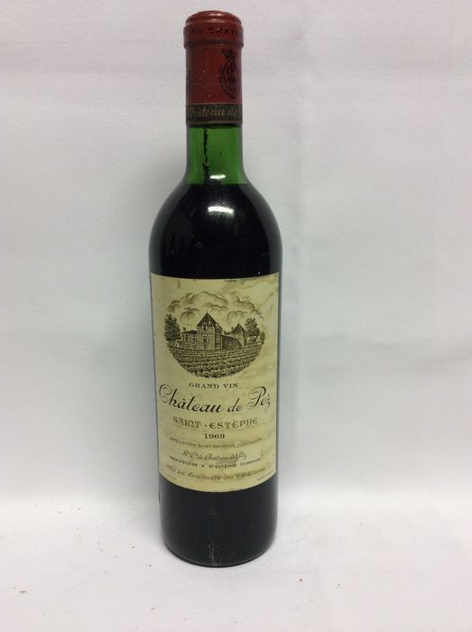 1969 Chateau De Pez Grand Vin, Saint-Estephe, France, 1 fles