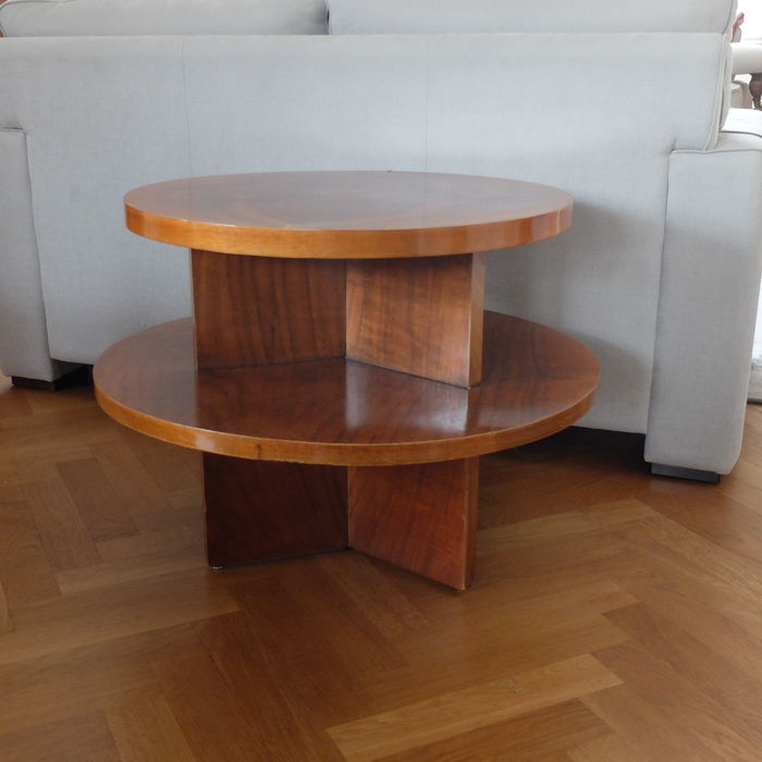 Table d 39 appoint ronde art d co catawiki - Deco table ronde ...