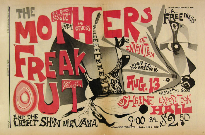 Frank Zappa Poster Two Posters Mothers Of Invention