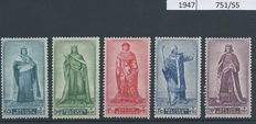 Belgium 1943/1950 – collection of complete issues with Senate 1/4 – between OBP 625 and 826.