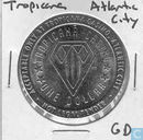 USA  Tropicana (Atlantic City, NJ)  Hotel Casino Gaming Token  1998
