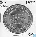 USA  Hilton (Reno, NV)  Hotel Casino Gaming Token  1987
