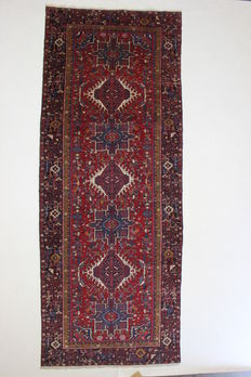 Large HERIZ hallway carpet, Iran, North West, Antique.