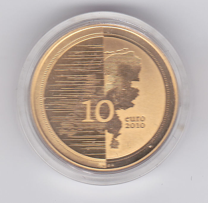 "The Netherlands - 10 Euro coin 2010, ""Waterland"", in the original packaging - gold"