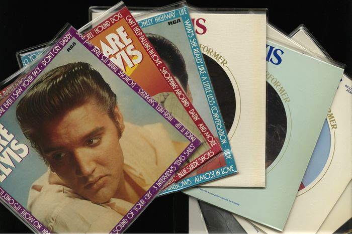 Elvis Aron Presley reissue lot of seven records - Including Rare Elvis pt. 1 to 3 and Elvis a legendary performer pts 1 till 4, Greatest hits vol. 1 and Elvis the great performances from 1990