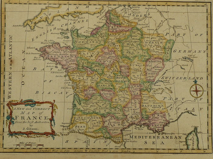 France d fenning j collyer a new and correct map of france france d fenning j collyer a new and correct map of freerunsca Image collections