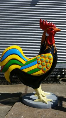 Huge rooster made of polyester-21st century