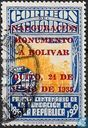 Unveiling of Bolivar Monument Overprint