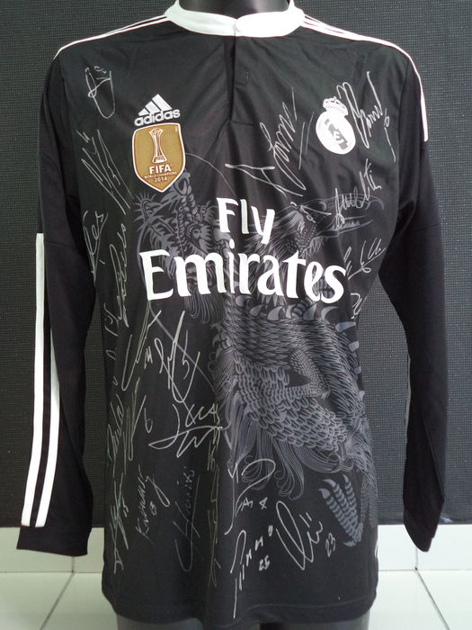 huge discount 2d95e 37a50 Real Madrid - James no. 10 - signed Dragon away jersey 2014-2015 by full  selection + COA - Catawiki