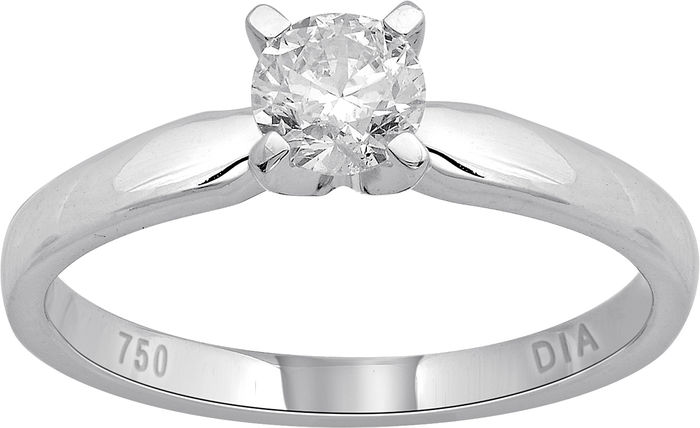 Round Brilliant diamond engagement ring in a 4 claw setting, 0.33ct total diamond weight.