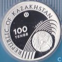 "Kazakhstan 100 tenge 2005 (PROOF) ""Torino Winter Olympics 2006 - Skiing"""